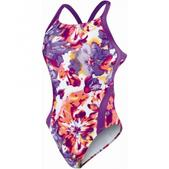 Nike Tie Dye Floral Modern Fast Back Tank Swimsuit - Girl's Size 28 Color BrightViolet