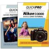 Nikon D3000 DVD 2 Pack Adobe Instructional User Manual Bundle