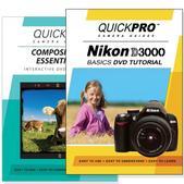 Nikon D3000 DVD 2 Pack Composition Instructional Manual Bundle