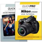 Nikon D5000 DVD 2 Pack Adobe Instructional User Manual Bundle