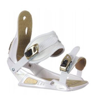Nitro Raiden Lynx Girl's Snowboard Bindings White/Gold
