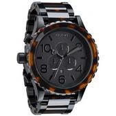Nixon 51-30 Chrono Watch - Matte Black / Dark Tortoise