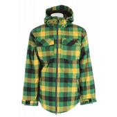 Nomis Flannel Insulated Snowboard Jacket Aspen Green Box Plaid