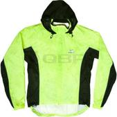 O2 Rainwear 3Flow Hooded Cycling Jacket Size M Color Hi-VisYellow