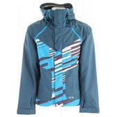 Oakley Locked Snowboard Jacket Marine Blue/Blue Stripe
