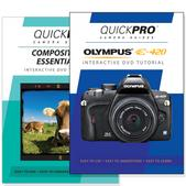 Olympus E-420 DVD 2 Pack Composition Instructional Manual Bundle
