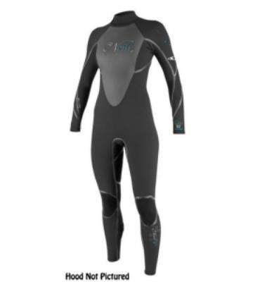 O'Neill D-Lux Mod 5/4 Wetsuit With Hood BLACK/BLACK