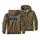 Patagonia Men's P-6 Logo Midweight Full-Zip Hoody Gorge Green S