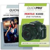 Pentax  K100D DVD 2 Pack Adobe Instructional User Manual Bundle