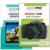 Pentax K10D DVD 2 Pack Composition Instructional Manual Bundle