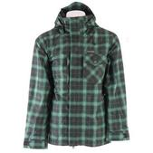 Planet Earth Chetco Insulated Snowboard Jacket Swamp Green/Aqua