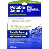 Potable Aqua Chlorine Dioxide Tablets - Package of 20
