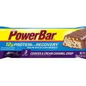 PowerBar Recovery Cookies & Cream Caramel Crisp Bar - Box of 15