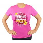 Puerto Rico Marathon Distance Makes the Heart Grow Stronger Short Sleeve Workout Shirt - Women's Size XS Color Raspberry