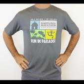Puerto Rico Marathon Run In Paradise Short Sleeve Workout Shirt - Men's Size L Color Steel