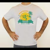 Puerto Rico Marathon Run In Paradise Short Sleeve Workout Shirt - Men's Size L Color White
