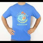 Puerto Rico Marathon Run In Paradise Short Sleeve Workout Shirt - Men's Size M Color Azure