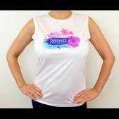 Puerto Rico Marathon Run In Paradise Sleeveless Workout Shirt - Women's Size M Color White