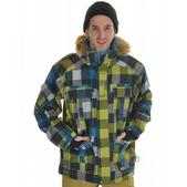 Quiksilver I Was Here Snowboard Jacket Blue On The Rocks