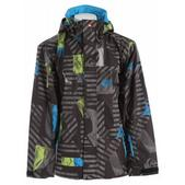 Quiksilver Last Mission Prints Insulated Snowboard Jacket Dirty Lime Snapper