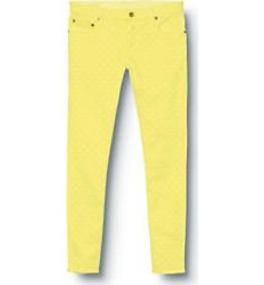 Quiksilver Womens Tama Crop Yellow Swan Jeans - Closeout