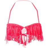 Raisins Beach Day Solids Bali Fringe Bandeau Bikini Top - Women's