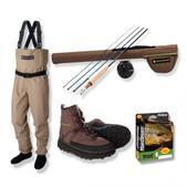 Redington Crosswater Kids Fly Fishing Kit Rod,Reel, 8-10 Waders & 6 Boot Outfit