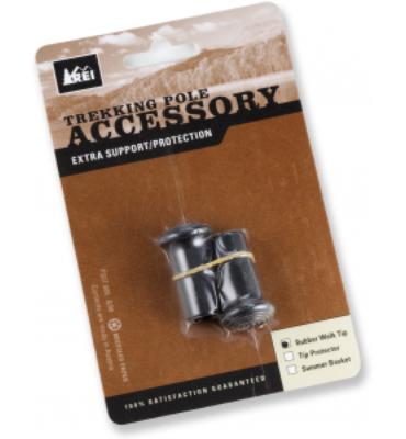 REI Trekking Pole Rubber Walking Tips - 12mm - Pair