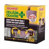 Reliance Double Doodie Large Toilet Waste Bag w Bio-Gel 6 Pack 2684-03