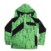 Ride Hemi Insulated Snowboard Jacket Green Worn Out Plaid Print/Black