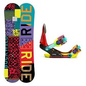 Ride Lil Buck and Phenom Kids Snowboard and Binding Package 2015
