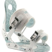 Ride LXH Snowboard Bindings White/Blue - Women's
