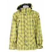 Ride Sodo Insulated Snowboard Jacket Waylon Plaid Pale Gold
