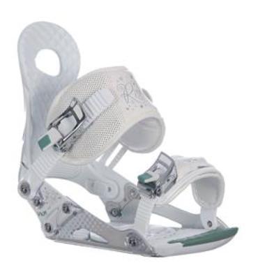 Ride VXN Snowboard Bindings White