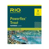 RIO Powerflex Trout 9Ft 3X 8.2Lb Leaders 3 Pack