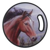River's Edge 13.75 Inch Round Cutting Board-Horse 823