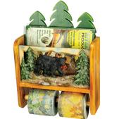 River's Edge New Bear Magazine Rack W/ Tp Holder 1980