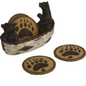 River's Edge New Bears In Boat Coaster Set 2040