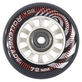 Rollerblade Wheel Kit 72mm/80A Inline Skate Wheels with SG5 Bearings - 8pack 2015