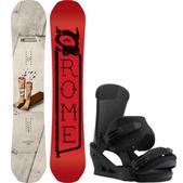 Rome Artifact Snowboard w/ Burton Custom Bindings