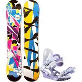 Rossignol Justice Amptek Snowboard w/ M3 Luna 4 Bindings