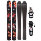 Rossignol Scimitar Jr Skis w/ Comp Kid Bindings Black/White