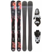 Rossignol Scimitar Jr Skis w/ Xelium Kid 45 S Bindings Black