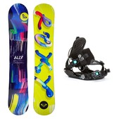 Roxy Ally LN BTX Gem SE Womens Snowboard and Binding Package