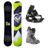 Roxy Eminence C2 BTX Axel Womens Complete Snowboard Package