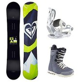 Roxy Eminence C2 BTX Sapphire Womens Complete Snowboard Package