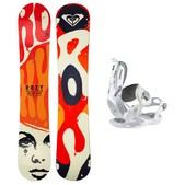 Roxy Ollie Pop C2BTX Rock-It Roll Womens Snowboard and Binding Package