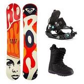 Roxy Ollie Pop C2BTX Sapphire Womens Complete Snowboard Package