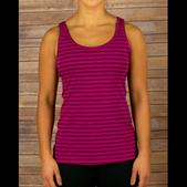 RYU Women's Signature Tank Berry With Stripe