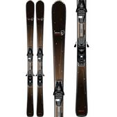 Salomon Origins Lava Skis Black/Brown w/ L9 Bindings